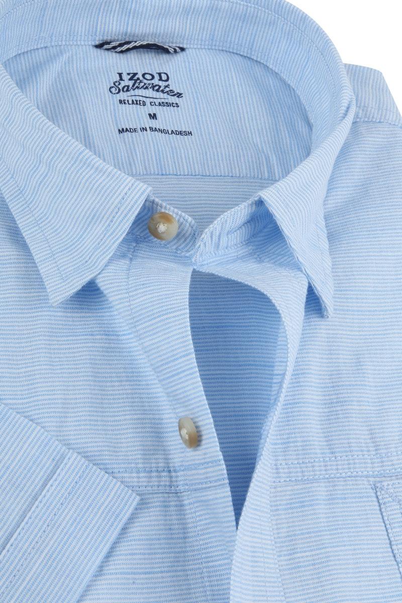 IZOD Overhemd Strepen Blauw foto 1