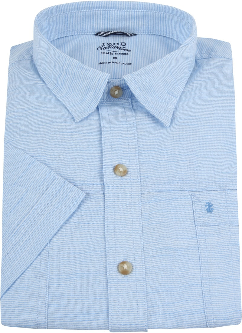 IZOD Overhemd Strepen Blauw foto 2