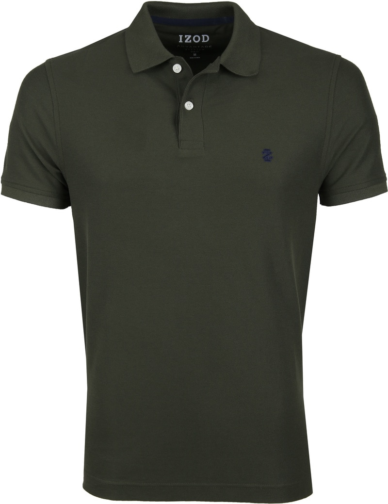 IZOD Performance Poloshirt Darkgreen photo 0