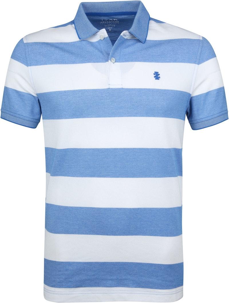 IZOD Performance Poloshirt Stripes Blue photo 0