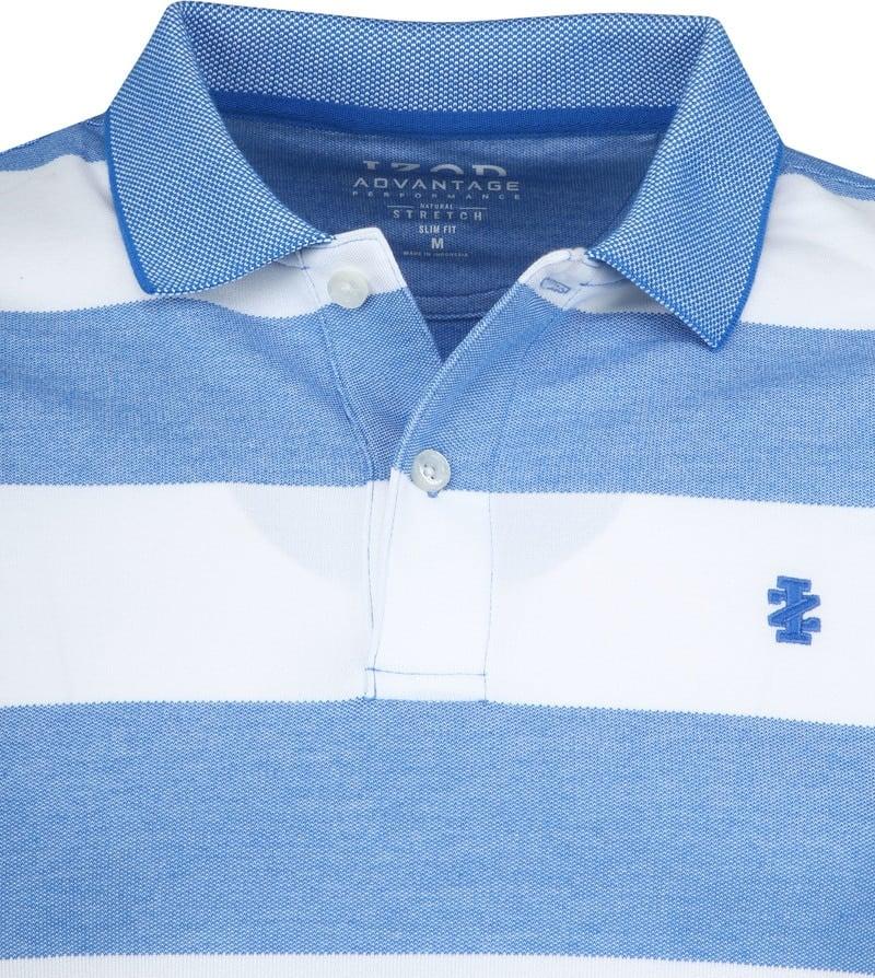 IZOD Performance Poloshirt Stripes Blue photo 1
