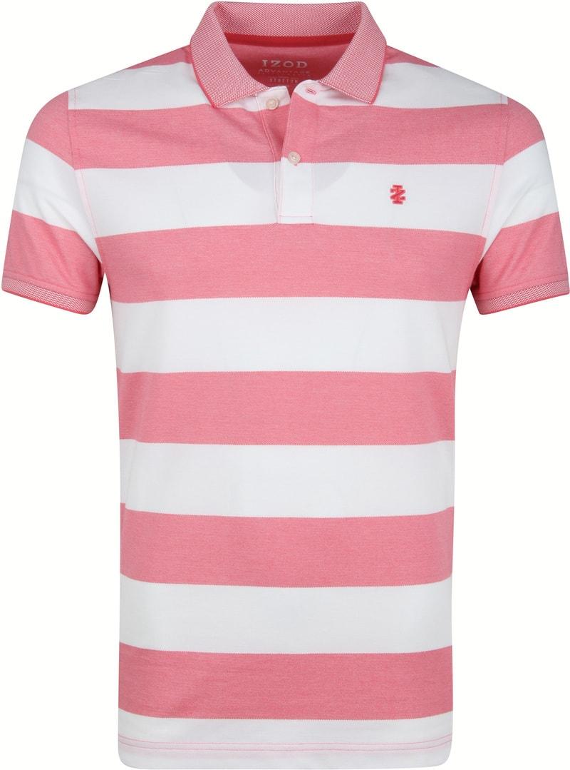IZOD Performance Poloshirt Stripes Pink photo 0