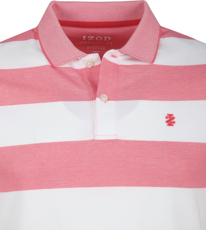 IZOD Performance Poloshirt Stripes Pink photo 1