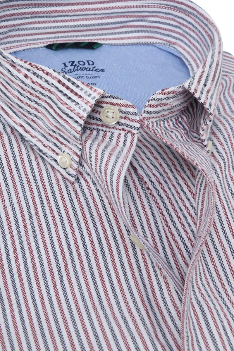 IZOD Shirt Streifen Rot Foto 1