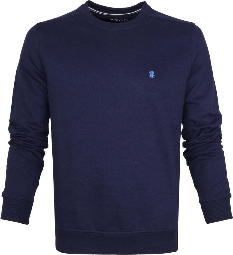 IZOD Solid Fleece Sweater Navy photo 0