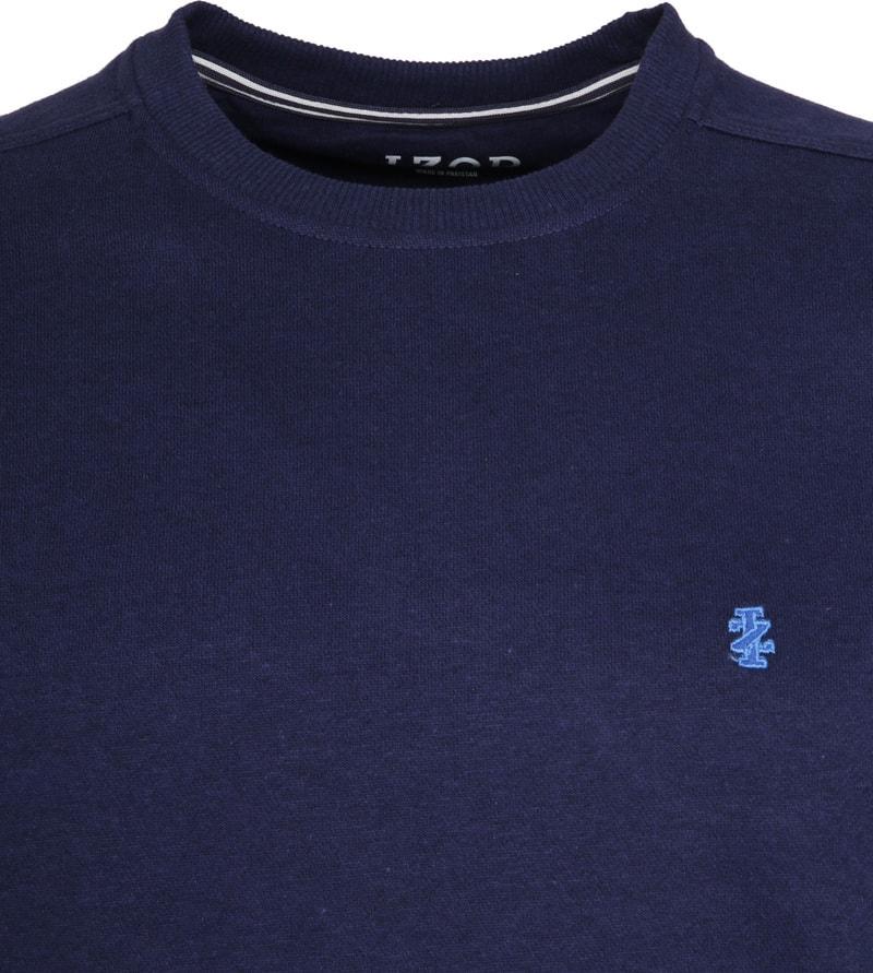 IZOD Solid Fleece Sweater Navy photo 1