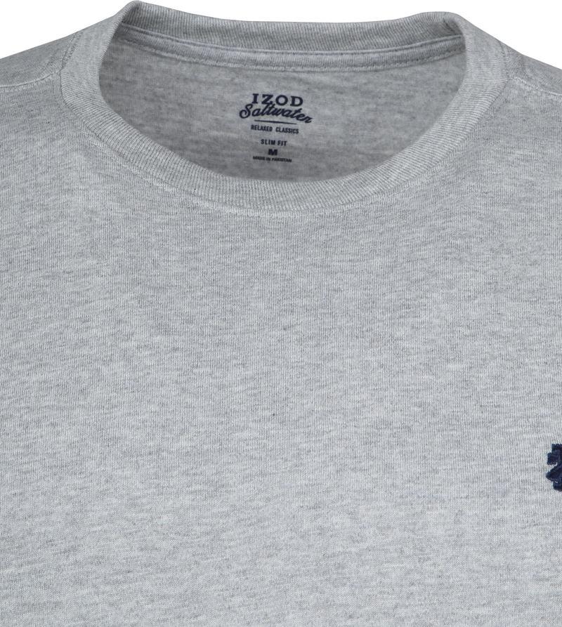 IZOD T-shirt Basic Tee Grijs foto 1