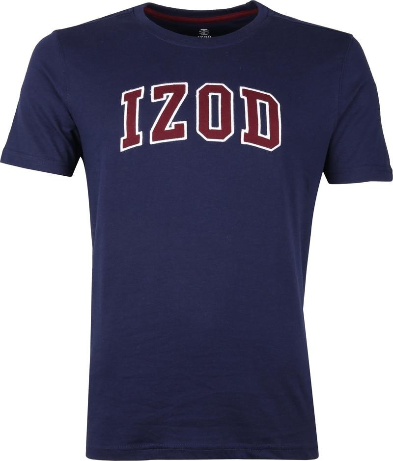IZOD T-shirt Logo Tee Navy foto 0