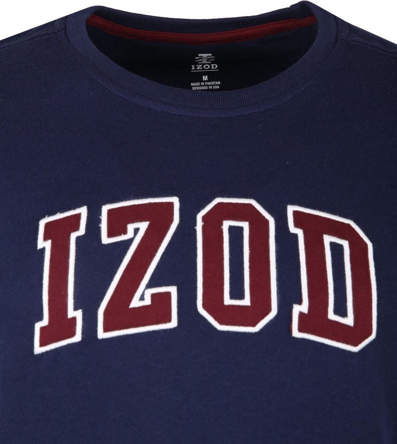 IZOD T-shirt Logo Tee Navy foto 1