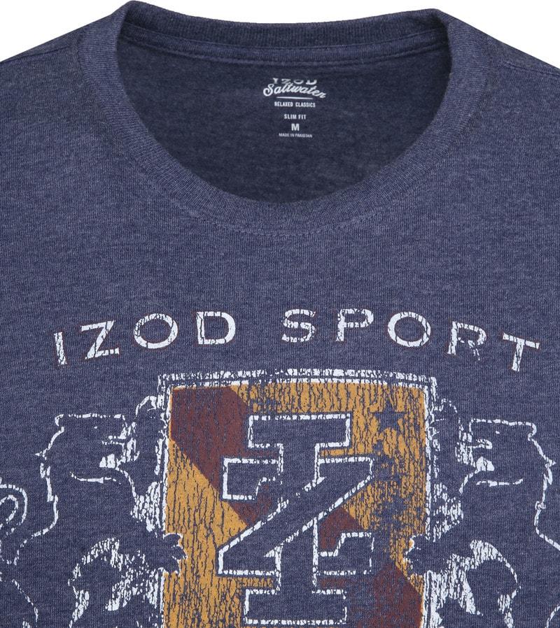 IZOD T-shirt LS Logo Blauw foto 1