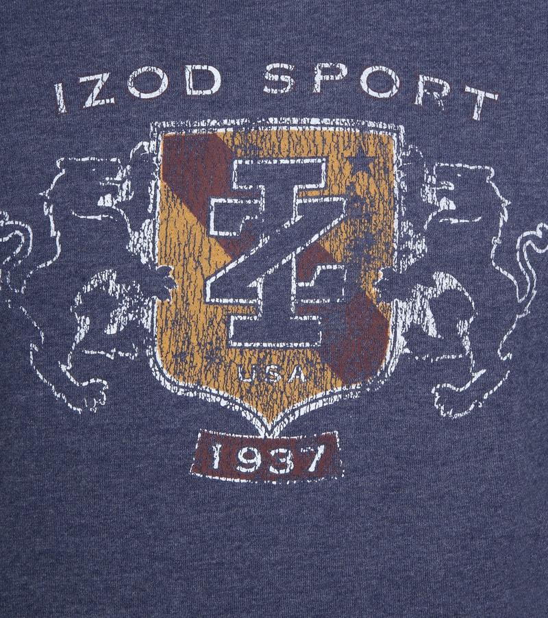IZOD T-shirt LS Logo Blauw foto 2