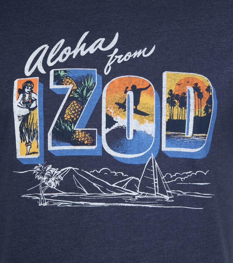 IZOD T-Shirt Print Dark Blue photo 2