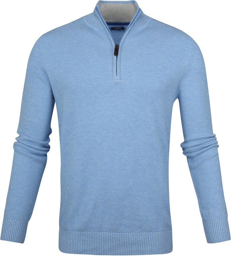 IZOD Zip Sweater Blue photo 0