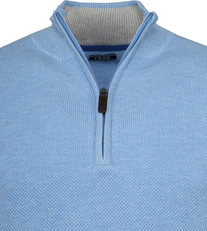 IZOD Zip Sweater Blue photo 1