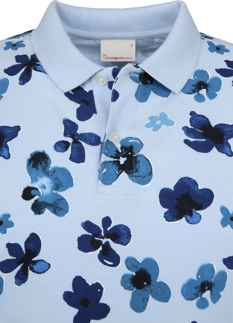 Knowledge Cotton Apparel Polo Skyway Flower foto 1