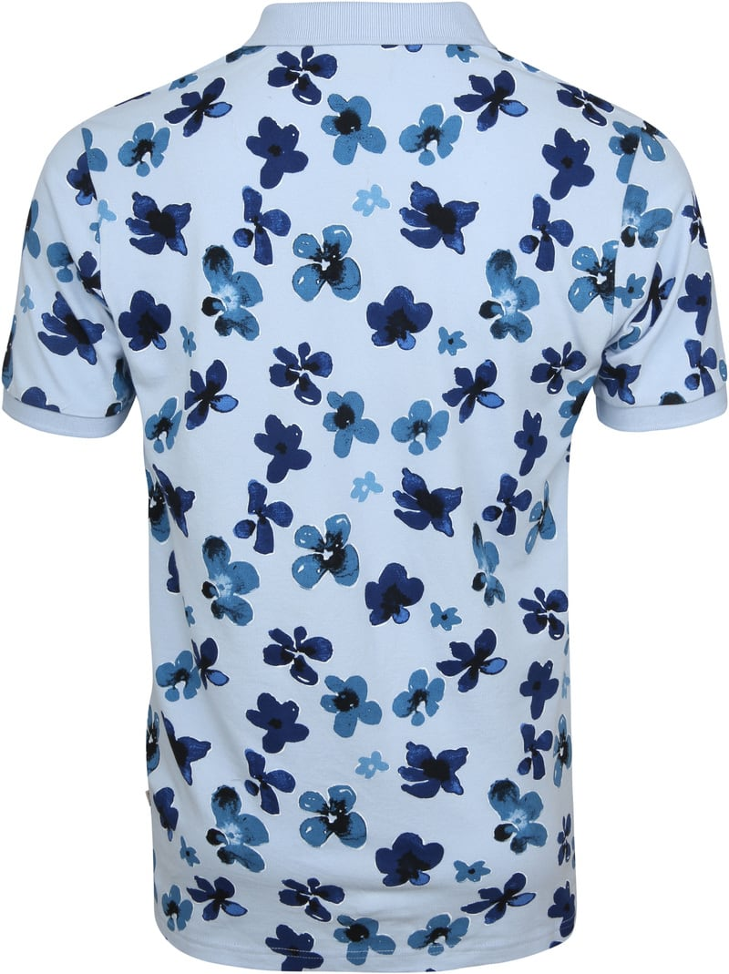Knowledge Cotton Apparel Polo Skyway Flower foto 3