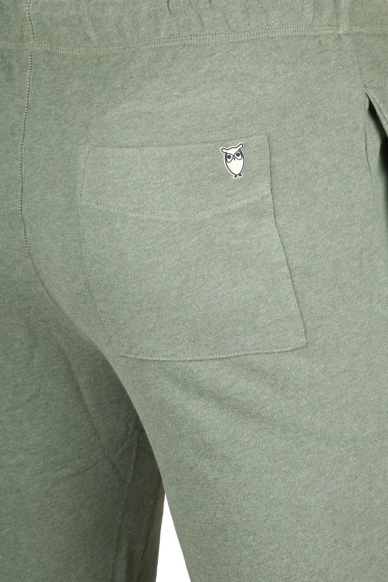 Knowledge Cotton Apparel Short Melange Groen foto 1