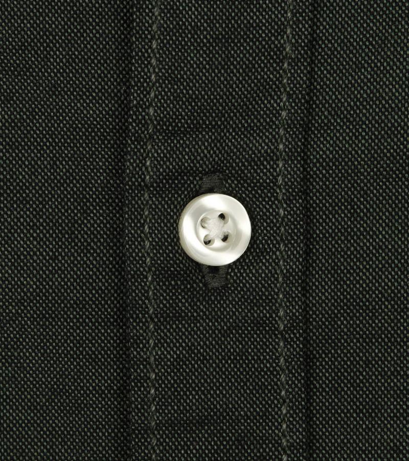 KnowledgeCotton Apparel Donkergroen Overhemd  foto 3