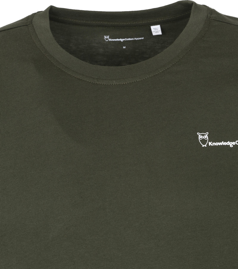 KnowledgeCotton Apparel Logo T-shirt Alder Forrest Groen