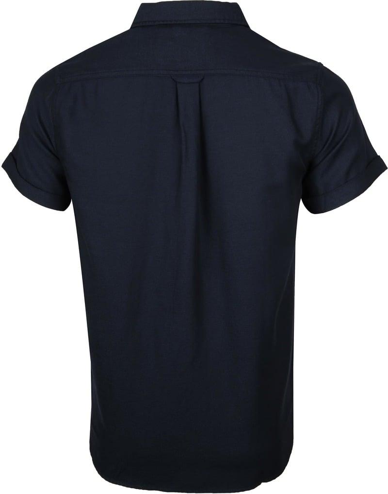 KnowledgeCotton Apparel Overhemd Navy foto 3
