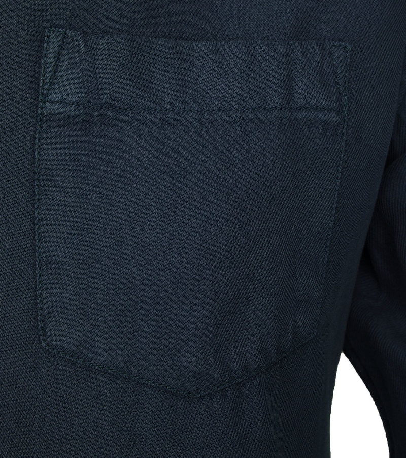 KnowledgeCotton Apparel Overhemd Twill Navy foto 2