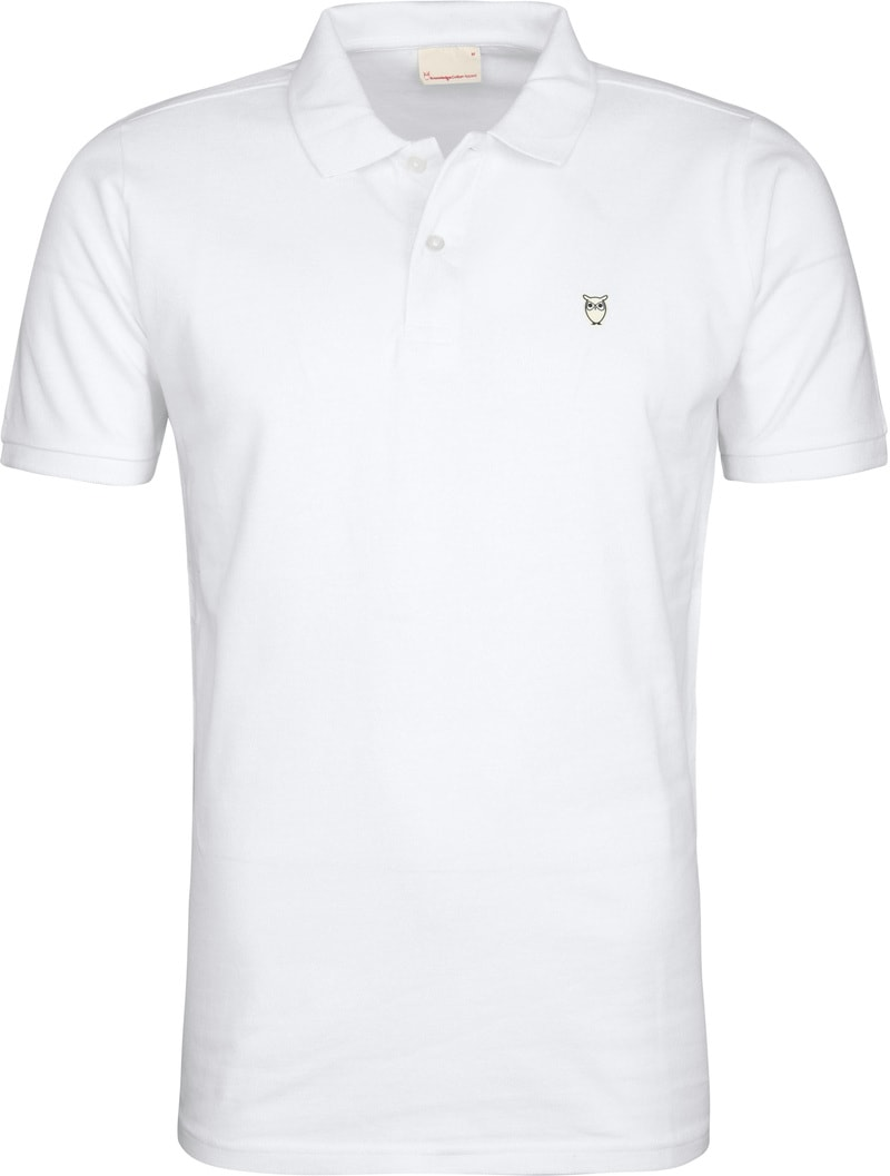 KnowledgeCotton Apparel Polo Wit