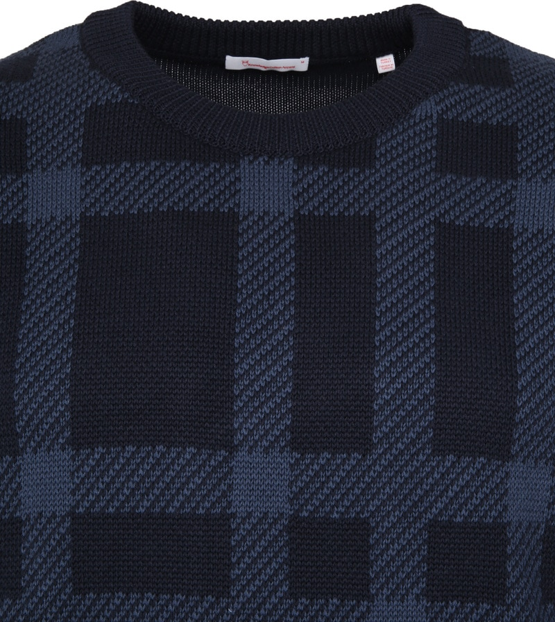 KnowledgeCotton Apparel Pullover Dessin Navy photo 1