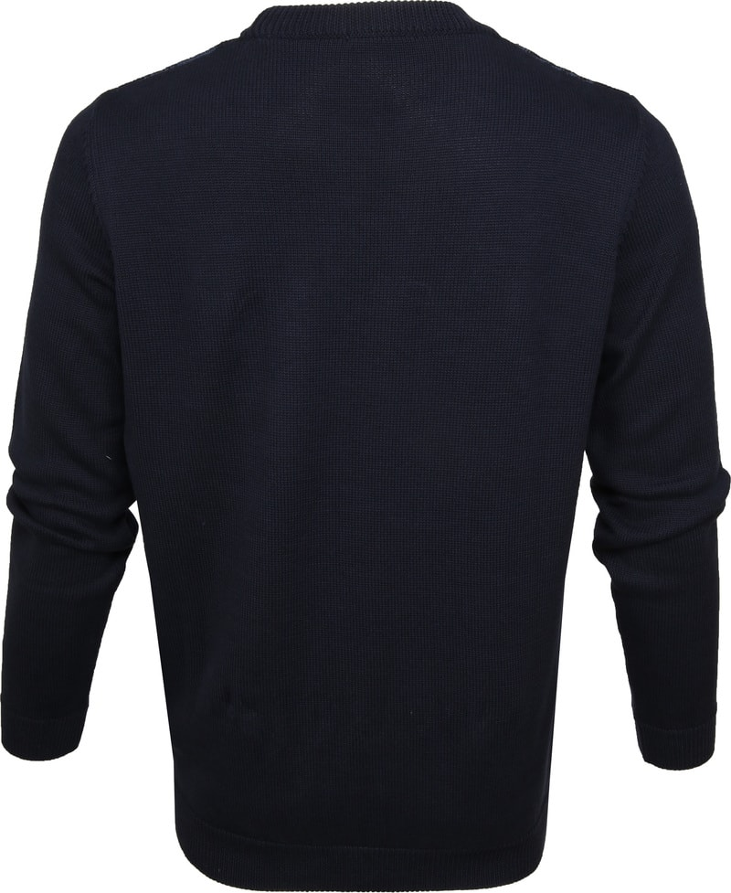 KnowledgeCotton Apparel Pullover Dessin Navy photo 3