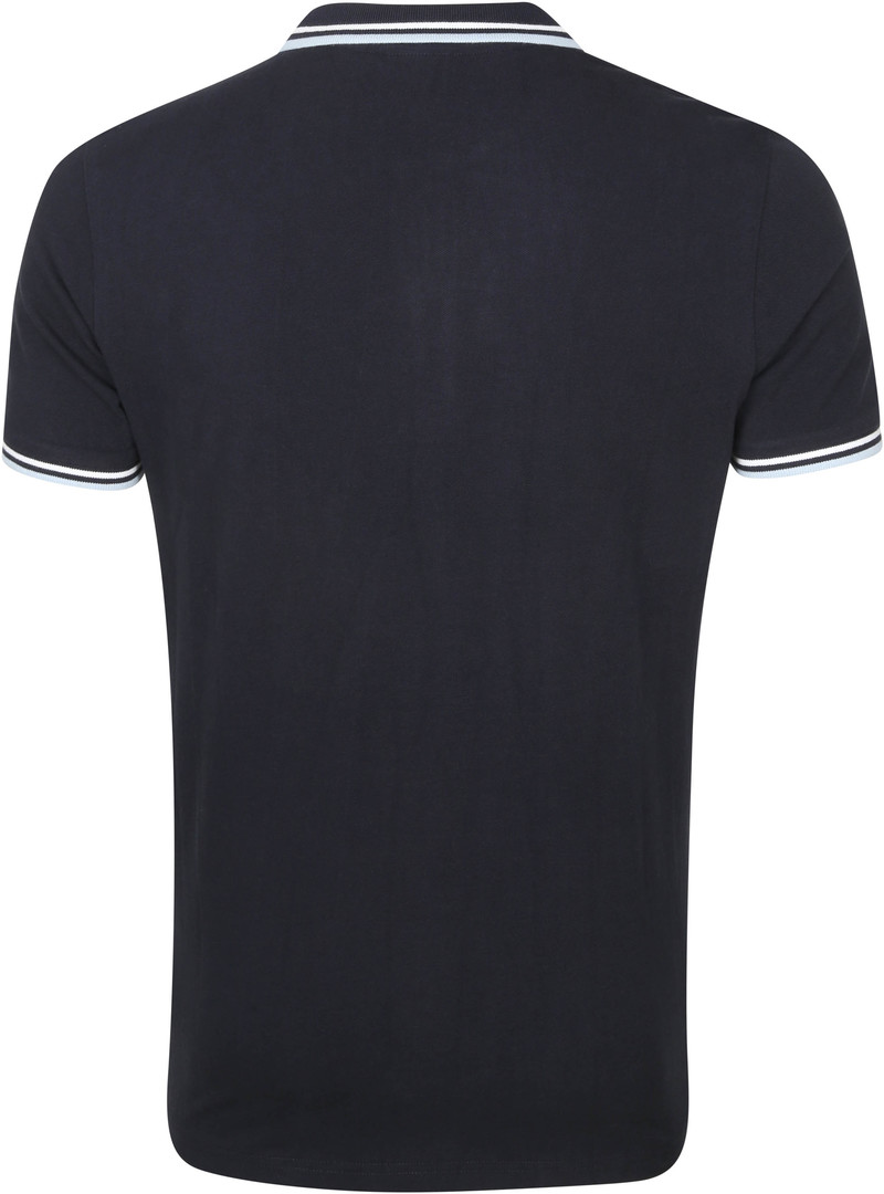 KnowledgeCotton Apparel Rowan Polo Donkerblauw