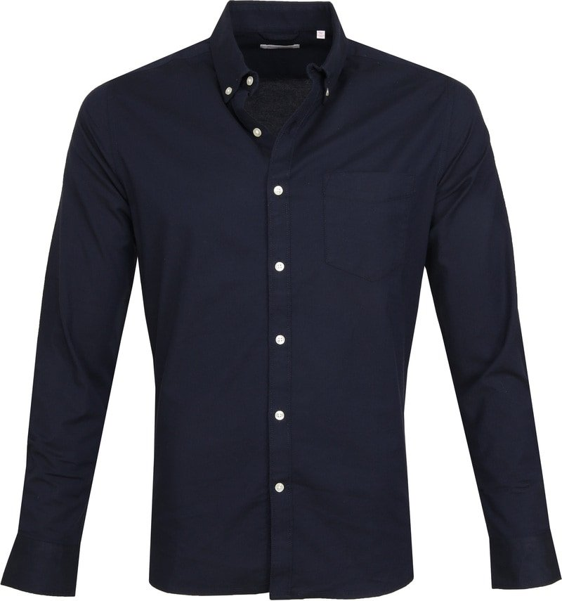 KnowledgeCotton Apparel Shirt Stretch Navy photo 0