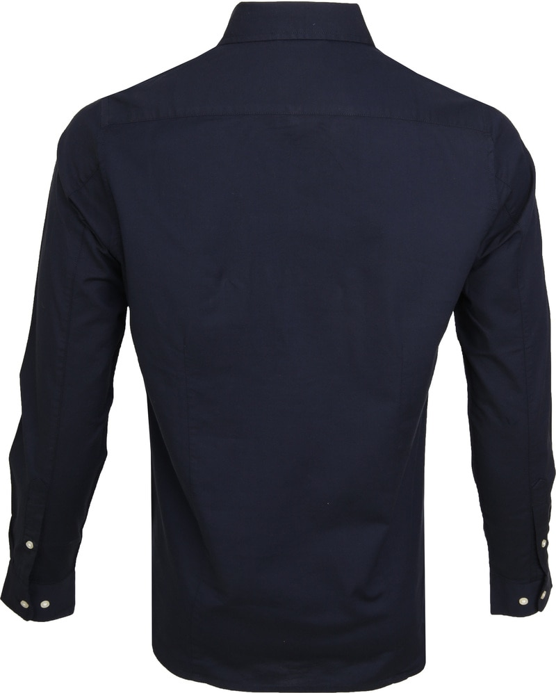 KnowledgeCotton Apparel Shirt Stretch Navy photo 3