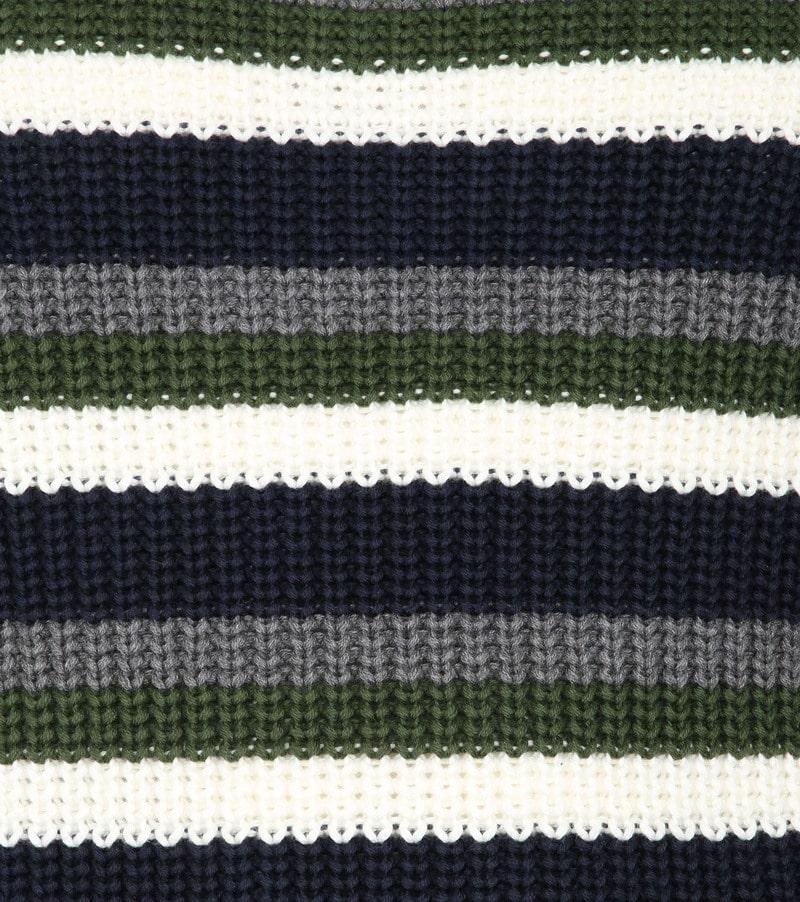 KnowledgeCotton Apparel Striped Rib Trui foto 2