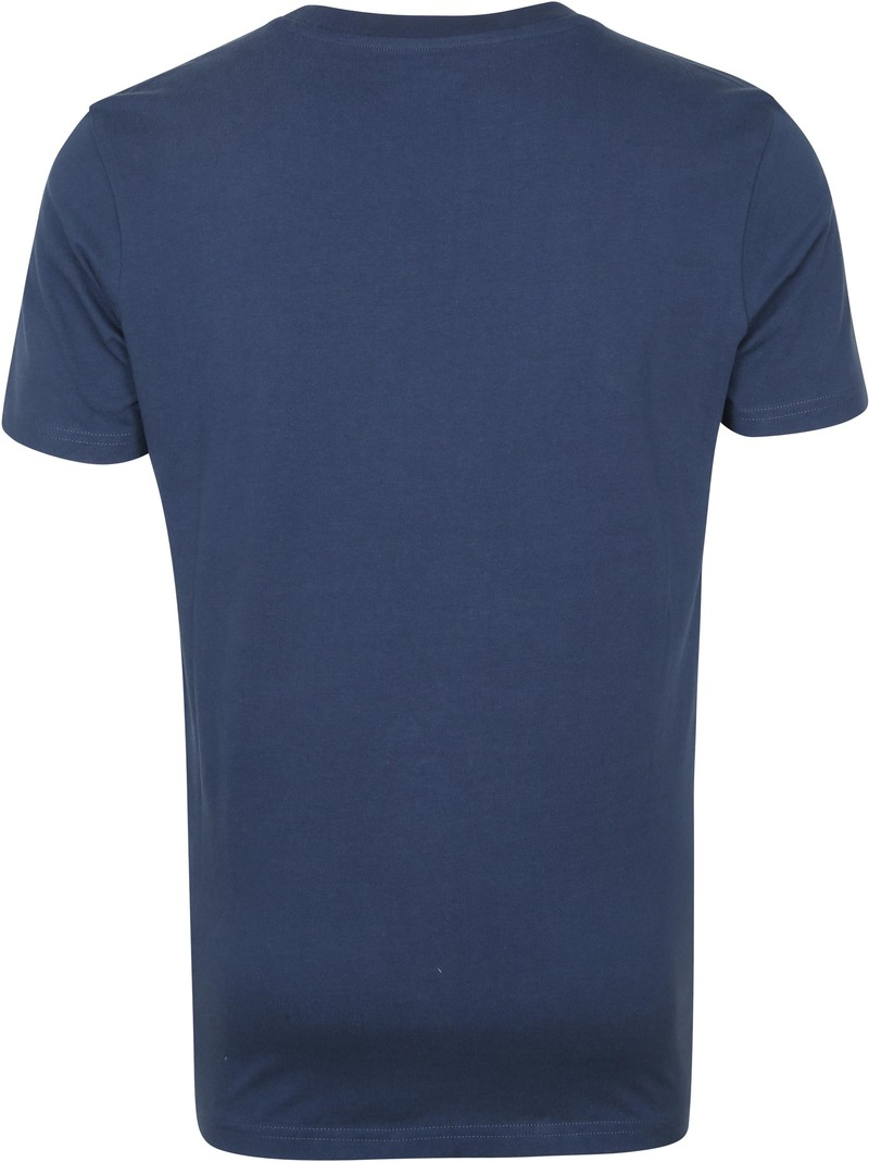 KnowledgeCotton Apparel T-shirt Alder Denim Blauw
