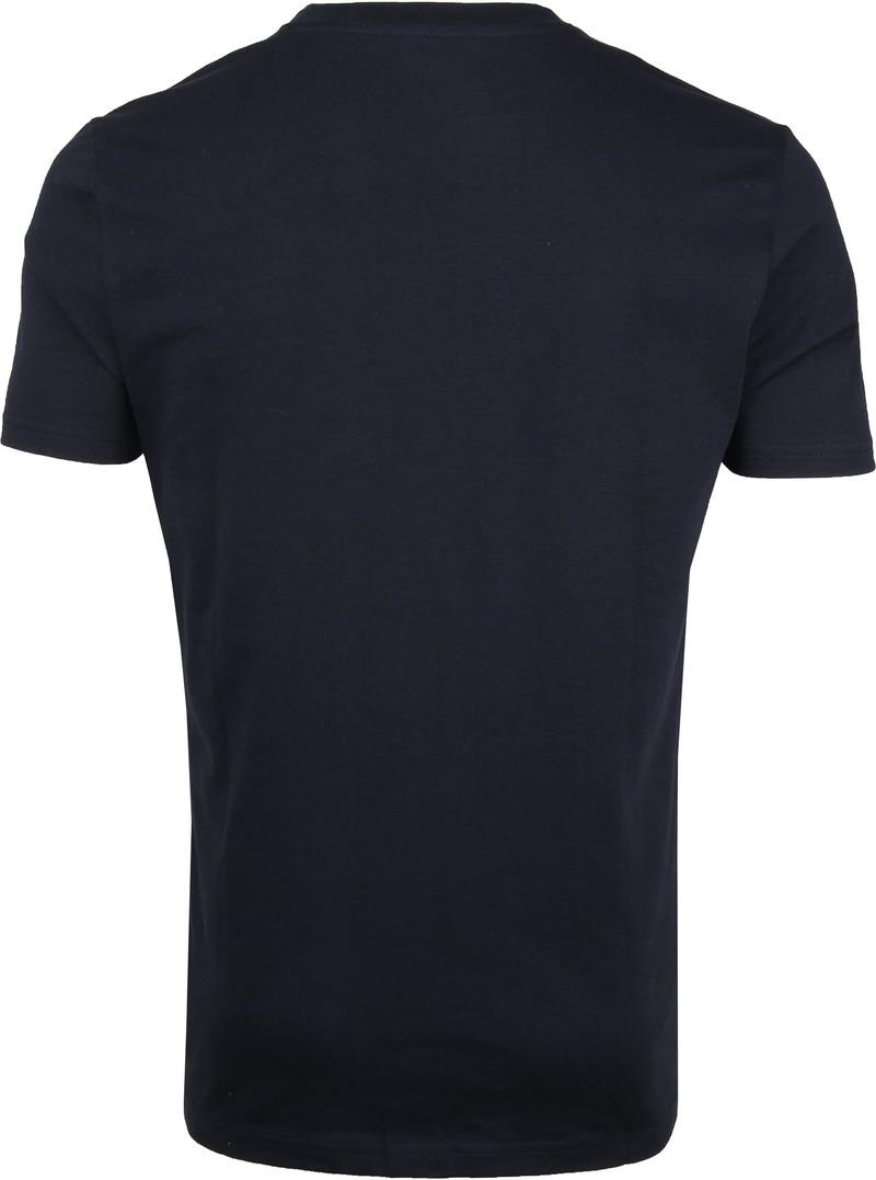 KnowledgeCotton Apparel T-shirt Alder Navy