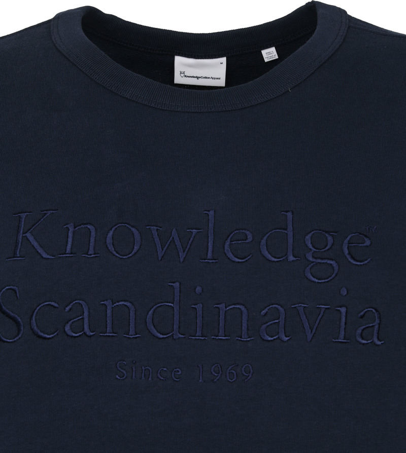 KnowledgeCotton Apparel Trui Elm Donkerblauw