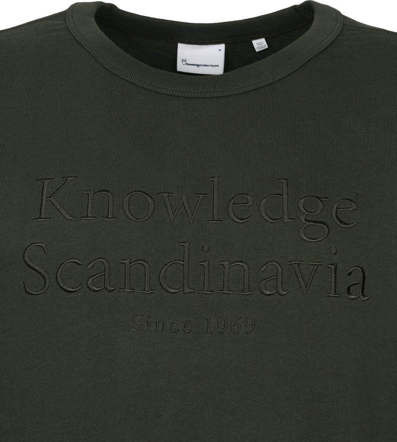 KnowledgeCotton Apparel Trui Elm Donkergroen