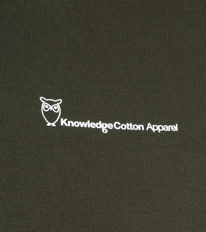 KnowledgeCotton Apparel Trui Logo Donkergroen