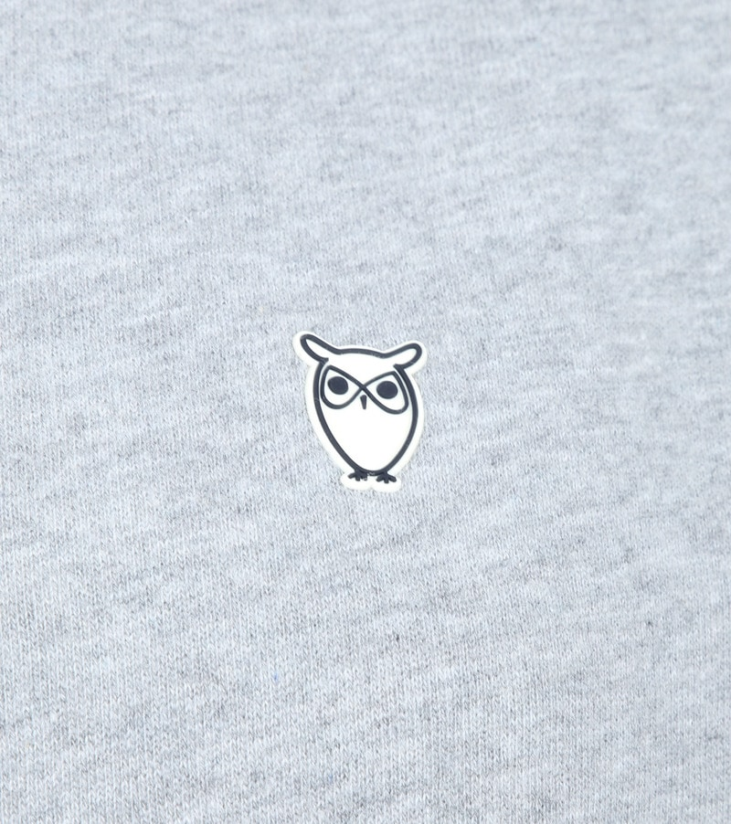 KnowledgeCotton Apparel Trui Logo Grijs foto 2