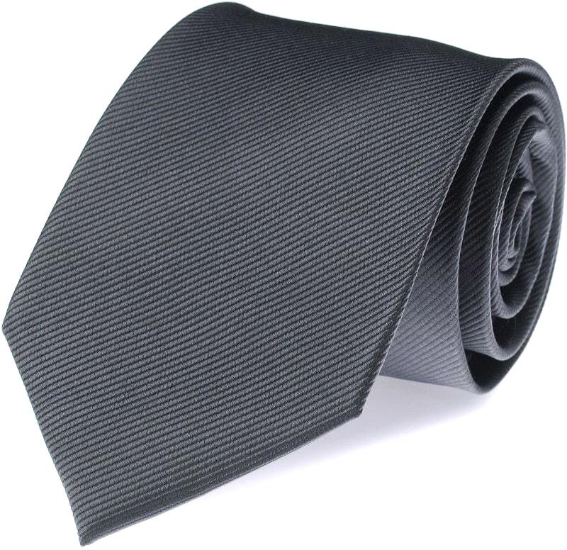 Krawatte Seide Anthrazit Uni F53 Foto 0