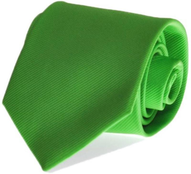 Krawatte Seide Apfelgrün Uni F33 Foto 0