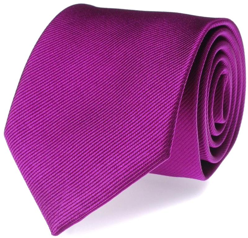 Krawatte Seide Aubergine Uni F28 Foto 0