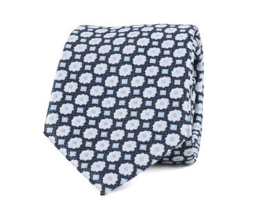 Krawatte Seide Blume Dunkelblau 9-17  online kaufen | Suitable