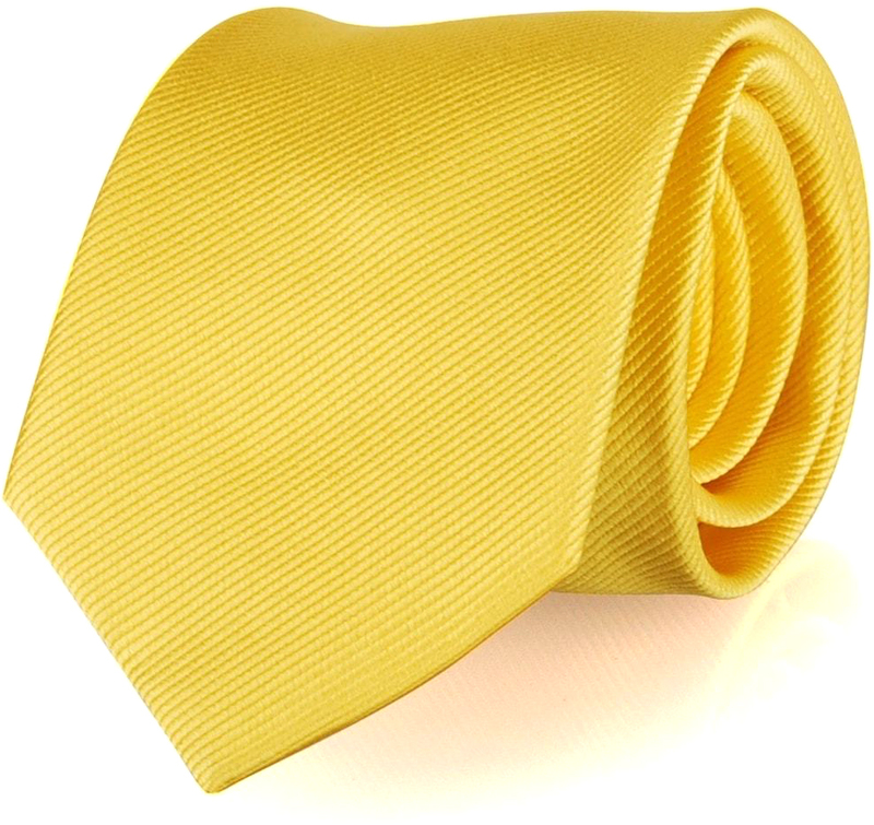 Krawatte Seide Gelb Uni F70
