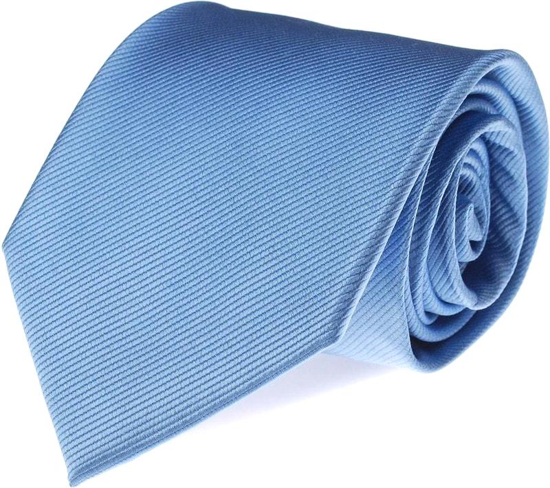 Krawatte Seide Hellblau Uni F02 Foto 0