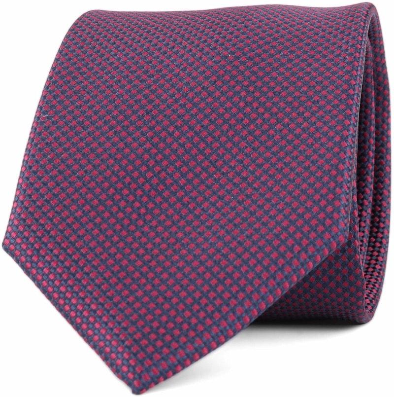 Krawatte Seide Karo Bordeaux 9-17  online kaufen | Suitable
