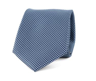 Detail Krawatte Seide Karo Hellblau 9-17