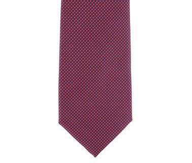 Detail Krawatte Seide Karo Rot 9-17