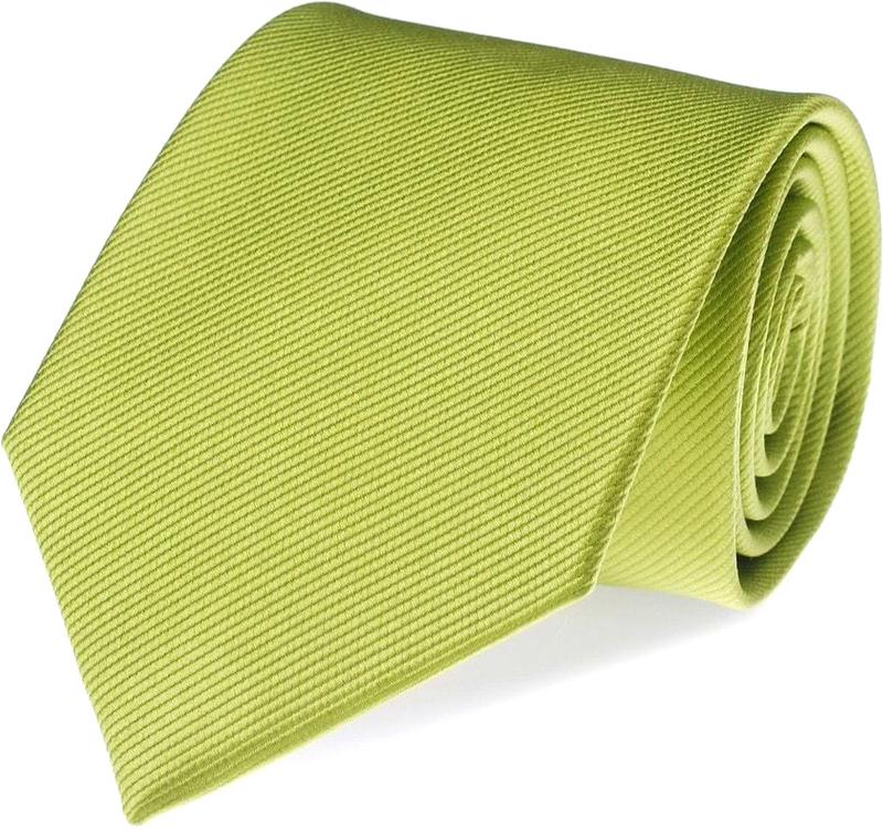 Krawatte Seide Limettengrün F04 Foto 0