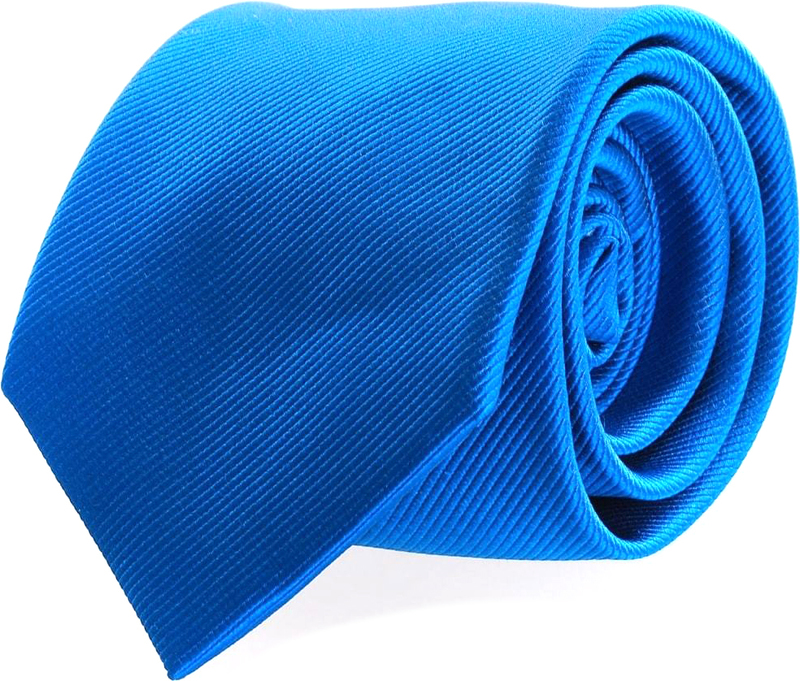 Krawatte Seide Ozeanblau Uni F32 Foto 0