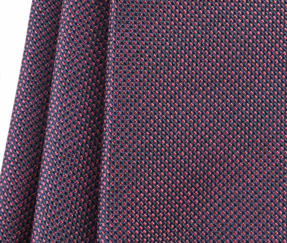 Detail Krawatte Seide Pinpoint Bordeaux 9-17